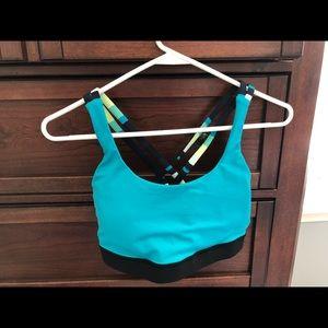 Blue lululemon energy bra